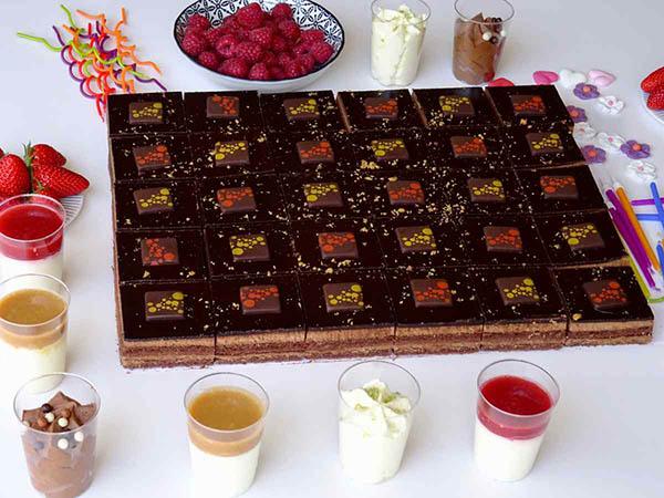 gâteau au chocolat pour mariage et cocktail